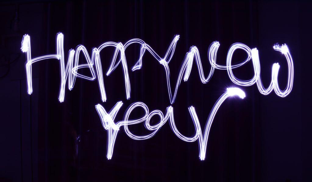 Schriftzug 'Happy New Year'