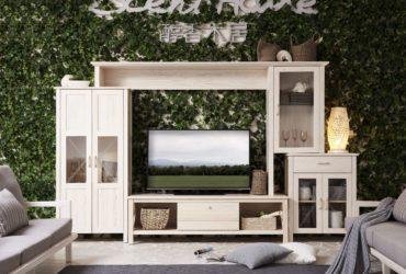 Wohnzimmer mit Wandbewuchs